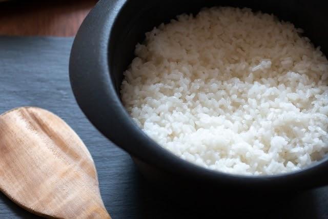 米 お湯で炊く